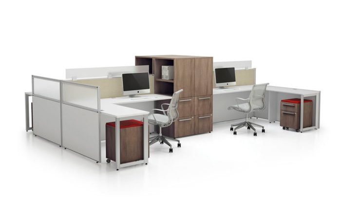 office panel benching system