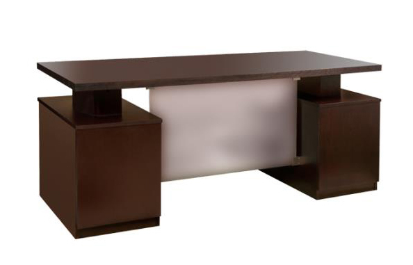 espresso wood veneer workstation desk