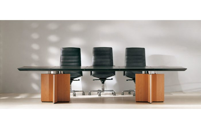 hard leather conference room table