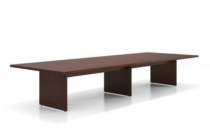 dark brown panel based office table