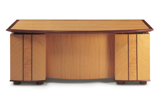 elegant wood veneer office desk