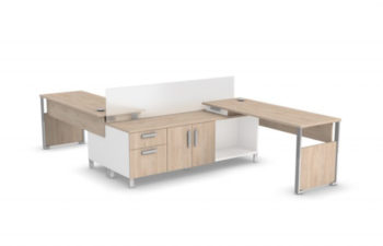collaborative and sleek office benching system