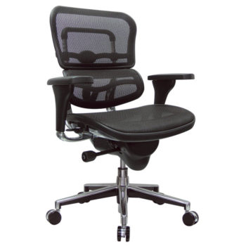 mesh black swivel chair