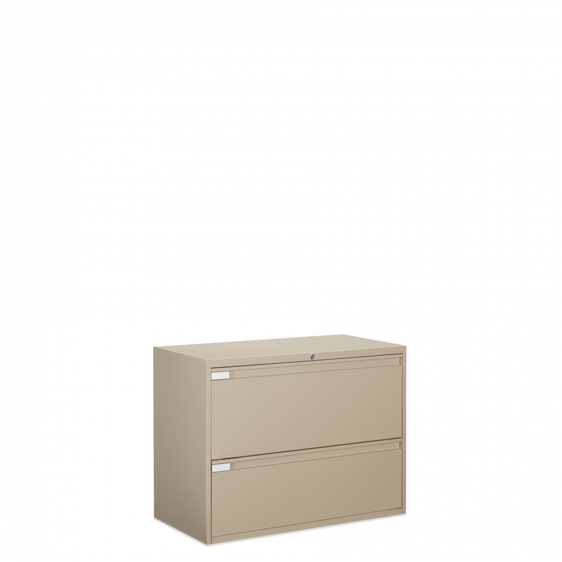 9300 Plus Series Professional lateral file capability with fixed or receding drawers and looped full pulls.