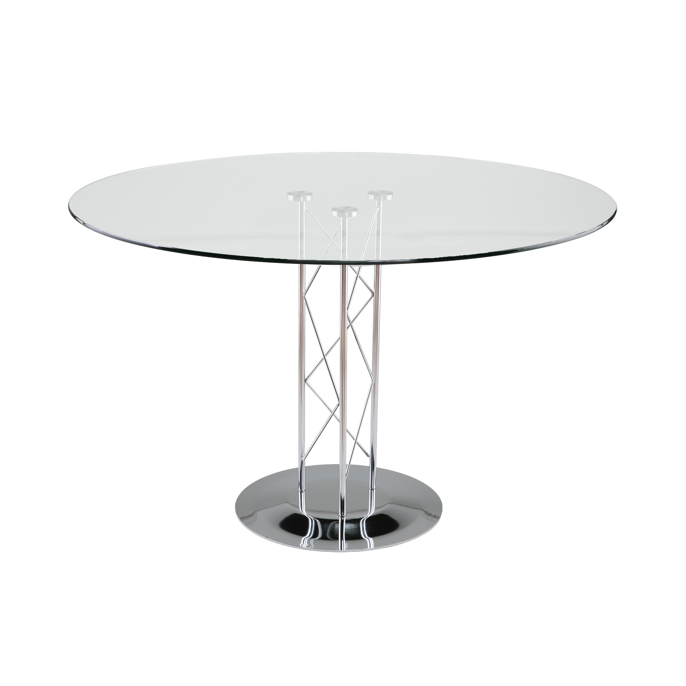Trave clear glass conference table 1