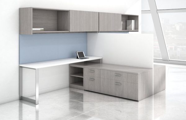 Canvas light grey desk