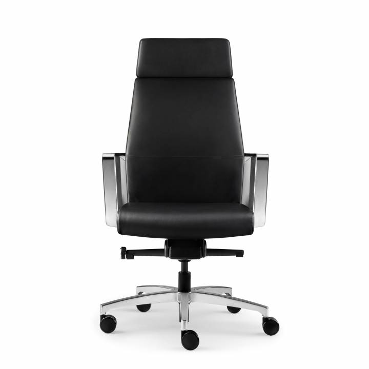 REQUISITE HIGH BACK CHAIR BLACK FRONT